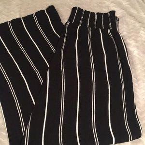Striped Wide Leg Flowy Pants